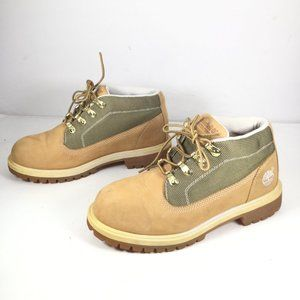 Timberland Waterproof Leather Boots Tan Size 4.5